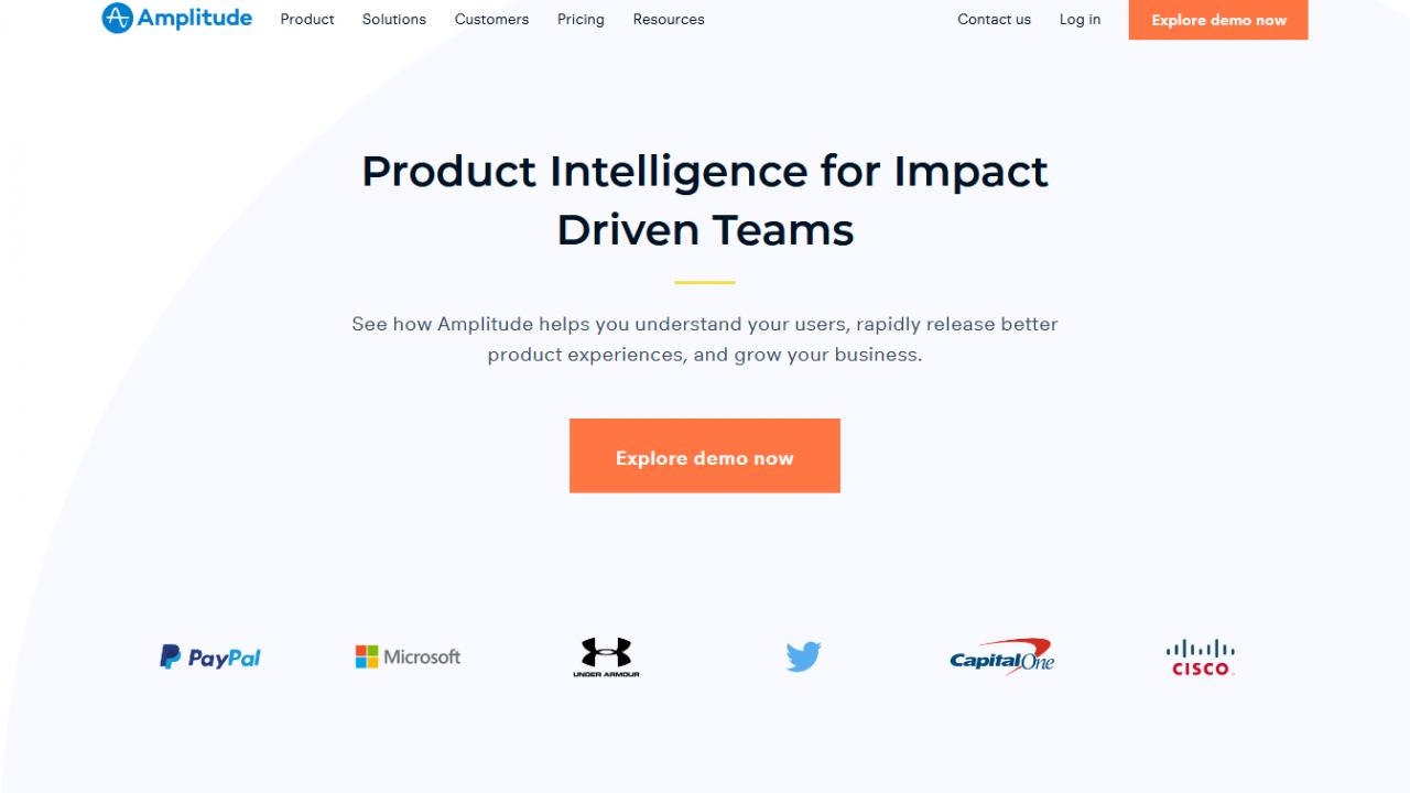 Website Screenshot Amplitude