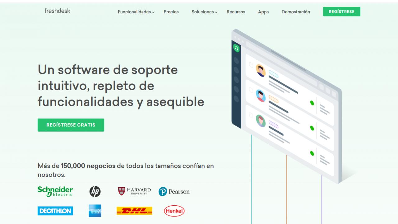 Website Screenshot Freshdesk