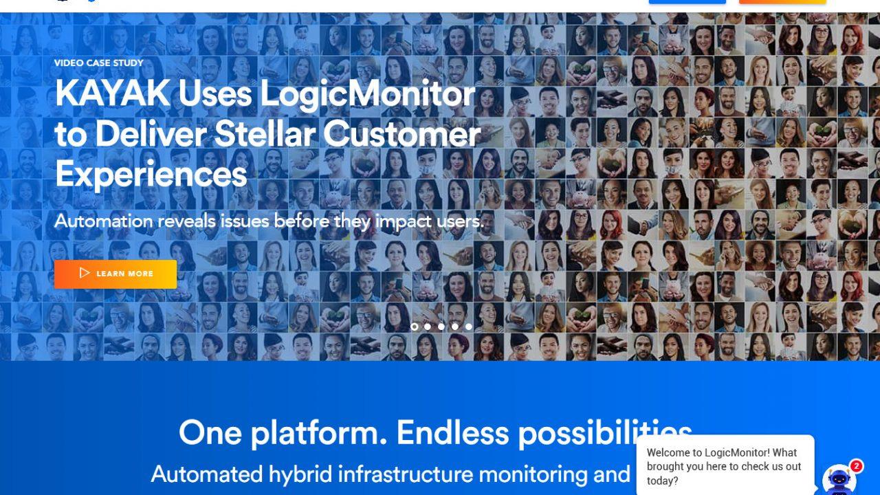 Website Screenshot LogicMonitor