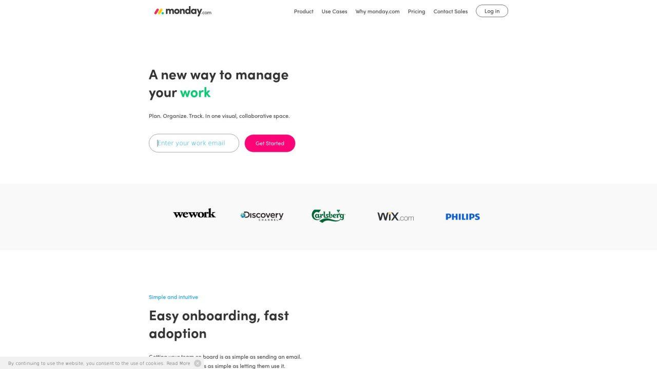 Website Screenshot Monday.com
