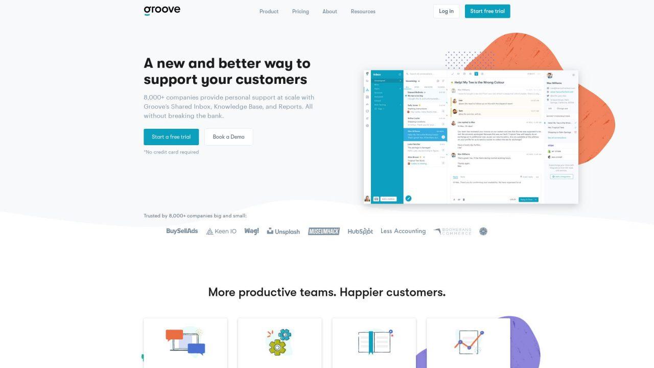 Website Screenshot Groove