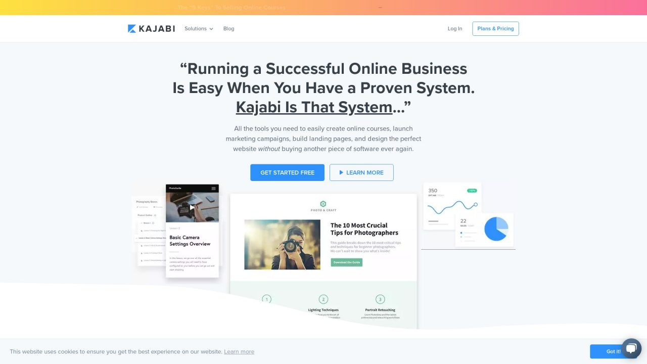 Website Screenshot Kajabi
