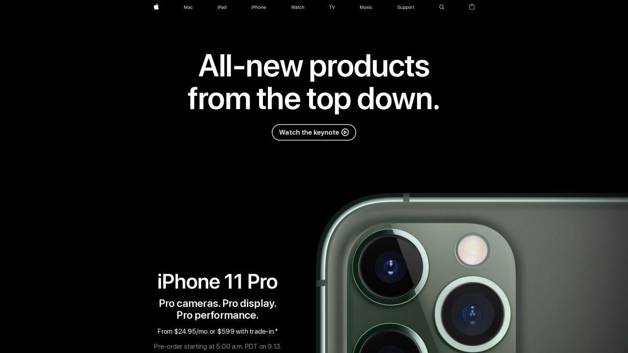 Website Screenshot Apple