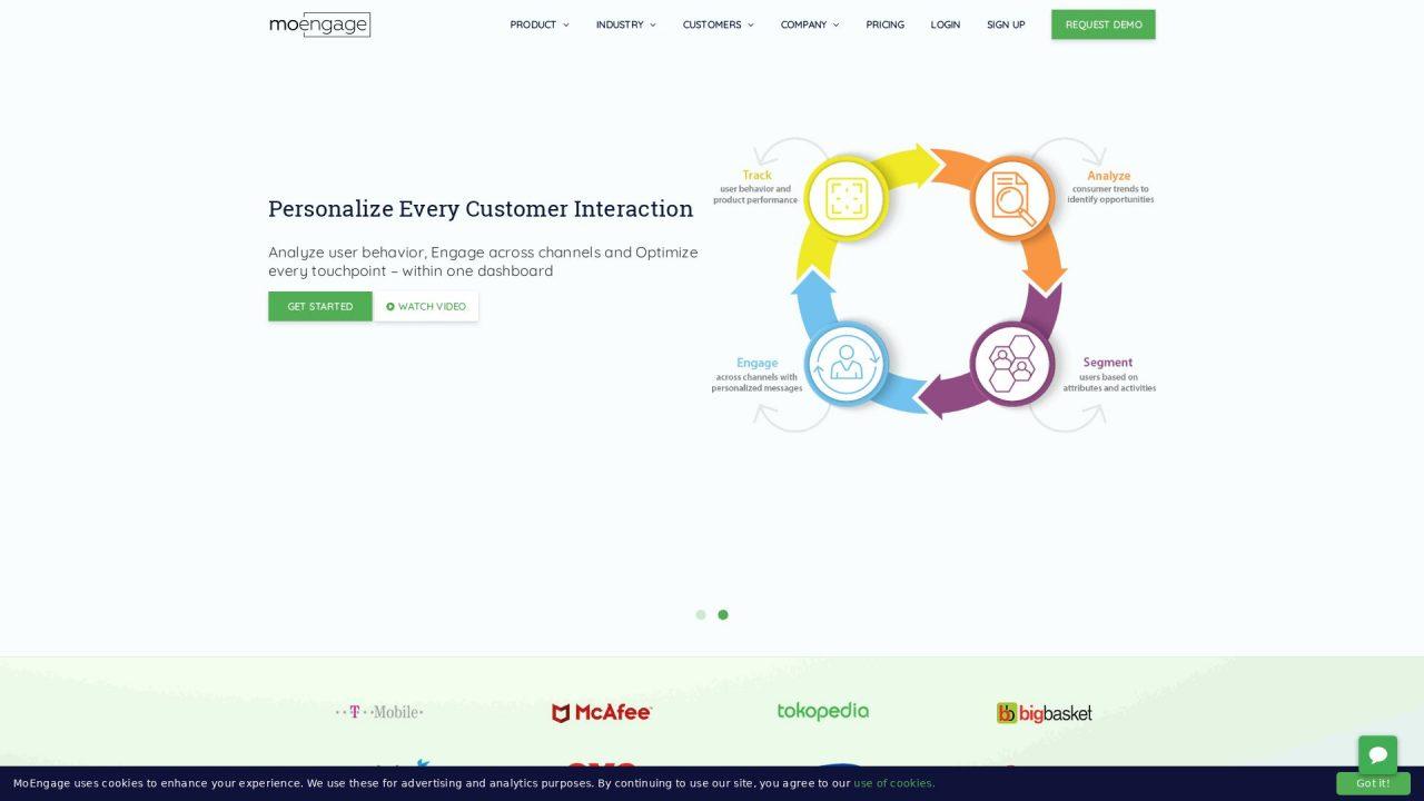 Website Screenshot MoEngage