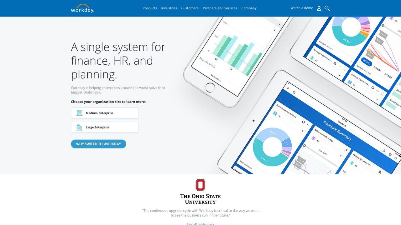 Website Screenshot Workday
