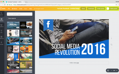 Canva (online design)